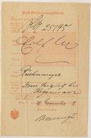DR - Posen 1898, Post-Einlieferungsschein (C.62), Ortsvordruck Posen - Lettres
