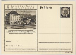 DR - 6 Pfg. Hindenburg, Bild-GA-Karte (Radiumbad Oberschlema) - Ungebraucht - Interi Postali