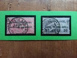 REGNO - Posta Aerea Nn. 1/2 Timbrati - Annulli Originali Manifestazione + Spedizione Prioritaria - 1900-44 Vittorio Emanuele III