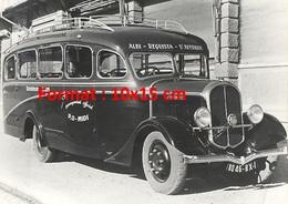 Reproduction D'une Photographie Ancienne D'un Autocar Type MC4 Albi-Requista-Ste.Affrique En 1935 - Repro's