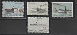 Nouvelle Zélande 1984 Bateaux 863-866 4 Val ** MNH - Unused Stamps