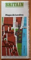 1976 MAPA DE LONDRES CON MAPA DEL METRO DE LONDRES. USADO - USED. - Europa