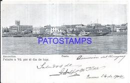 126749 PARAGUAY ASUNCION VISTA PARCIAL DEL PUERTO PORT & SHIP POSTAL POSTCARD - Paraguay