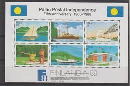 Palau 1988 Indépendance Postale BF 3 ** MNH - Palau