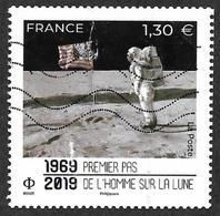 FRANCE  2019  -  Premier Pas De L'Homme Sur La Lune - 3° Choix - 2010-.. Matasellados