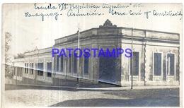 126751 PARAGUAY ASUNCION SCHOOL ESCUELA Nº 1 DAMAGED PHOTO NO POSTAL POSTCARD - Paraguay