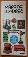 1975 BTA MAPA DE LONDRES CON MAPA DEL METRO DE LONDRES. USADO - USED. - Europa