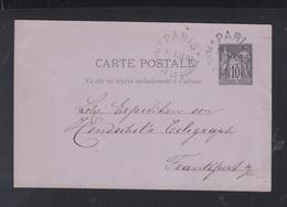 France CP 1880 Paris Place De La Bourse - Postmark Collection (Covers)