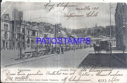 126771 CHILE VALPARAISO AVENIDA BRASIL CARRIAGE A HORSE BREAK POSTAL POSTCARD - Chile