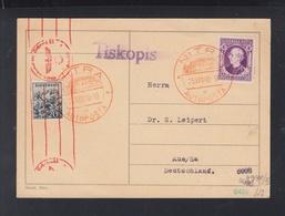 Slovakia PC 1940 Nitra Autoposta To Germany Censor - Slowakije