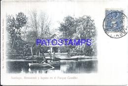 126775 CHILE SANTIAGO RESTAURANT Y LAGUNA EN EL PARQUE COUSIÑO POSTAL POSTCARD - Chile