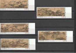 China 2019 - 16  Five Sacred Mountains Paintings Set 5v. *** MNH - Nuovi