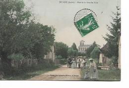 JEUGNY - Rue De La Grande Voie - Carte Colorisée - Autres Communes