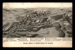 54 - LONGWY - LE BASSIN MINIER - EDITION ARTISTIQUE V. KREMER - VOIR ETAT - Longwy