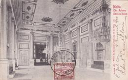 CPA - Malte / Malta - The Palace Throne Room - 1904 - Malta