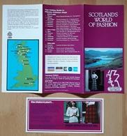 SCOTLAND'S WORLD OF FASHION. - Folletos Turísticos