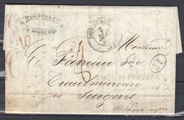 Lettre De BORDEAUX (firme Hanappier) Par ROCHEFORT (SUR MER) à SURGERES - 04 Mai 1839 - Marcofilia (sobres)