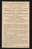 ADEL NOBLESSE  GUSTAVE BRUNEEL De La WARANDE - KORTRIJK 1863 - KEMMEL 1932 - Overlijden