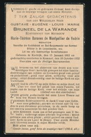 ADEL NOBLESSE  GUSTAVE BRUNEEL De La WARANDE - KORTRIJK 1863 - KEMMEL 1932 - Décès