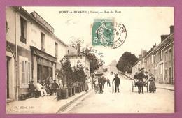 Port A Binson Rue Du Pont - Animée Hotel De La Gare Millet  - éditeur Ch Millet - Frankreich