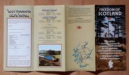FREEDOM OF SCOTLAND. - Folletos Turísticos