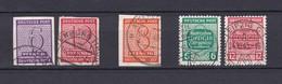 West-Sachsen - 1945 - Michel Nr. 117 X+ 119 X+118 Y+124/25 Y - Gest. - 38 Euro - Sowjetische Zone (SBZ)
