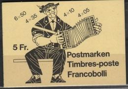 COIF 1 - SUISSE Carnet 1033 A/I Neuf Thèmes Folklore, Musique Accordéon, Coiffes - Blocchi