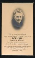 ADEL NOBLESSE  GRAVIN LUCIE De BOUSIES - BRUSSEL 1946  80 JAAR OUD - Décès