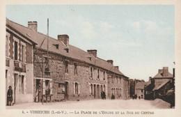 Visseiche La Place De L Eglise Et La Rue Du Centre - Frankreich