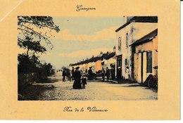Saône Et Loire  GUEUGNON  Rue De La Villeneuve (colorisée) - Gueugnon