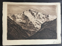 Jungfrau/ Original Radierung/ Handabzug - BE Berne