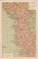 (CG).Cartolina Geografica Periodo Bellico.Albania.F.to Piccolo.Nuova (81-a18) - Cartes Géographiques