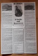 HARRIS. A GUIDE AND GAZETTEER. - Folletos Turísticos