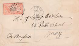 N° 145 S / Env  T.P. Ob Cad Vallière 7 12 25 Pour Jersey - 1900-27 Merson