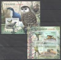 BC968 2012 MOZAMBIQUE MOCAMBIQUE FAUNA EXTINCT BIRDS PASSAROS EXTINTOS 1KB+1BL MNH - Andere