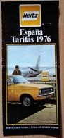 HERTZ ESPAÑA TARIFAS 1976. - Folletos Turísticos