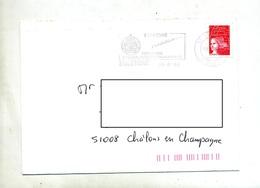 Lettre Flamme Egletons Formation Genie Civil Sur Roulette - Marcophilie (Lettres)
