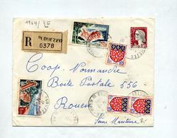 Lettre Recommandée Plouezec Sur Decaris Azur Touquet - Poststempel (Briefe)