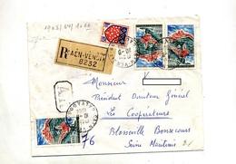 Lettre Recommandée Caen Sur Saint Flour - Poststempel (Briefe)