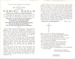 Devotie Doodsprentje Overlijden - Voorzitter Kerkraad Camiel Roels Echtg. Dobbelaere - Sijsele 1883 - Maldegem 1965 - Décès