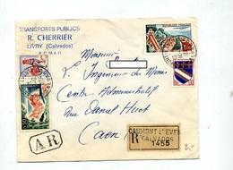 Lettre Recommandée Caumont L'evente Sur Coq Azur Touquet - Poststempel (Briefe)