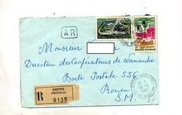 Lettre Recommandée Dieppe Sur Cognac Dunkerque - Poststempel (Briefe)