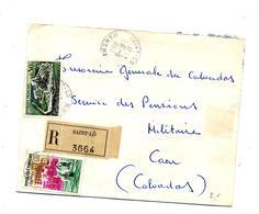 Lettre Recommandée Saint Lo  Sur Cognac Dunkerque - Poststempel (Briefe)