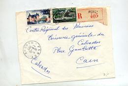 Lettre Recommandée Percy  Sur Cognac Sully - Poststempel (Briefe)
