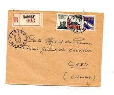 Lettre Recommandée Ganesy Sur Calais - Poststempel (Briefe)