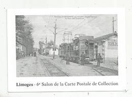 Cp , Chemin De Fer , Environs D'ORADOUR SUR GLANE ,87 ,la Gare De Tramways ,Limoges ,6 E Salon De Cp,  1988 - Stations - Met Treinen