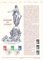 FRANCE - DOCUMENT OFFICIEL MARIANNE DU 14 JUILLET CAD PARIS DU 14/7/1997 - Postdokumente