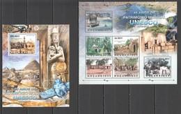 BC1169 2012 MOZAMBIQUE MOCAMBIQUE ORGANIZATIONS UNESCO ARCHITECTURE CULTURES 1SH+1BL MNH - Monumentos