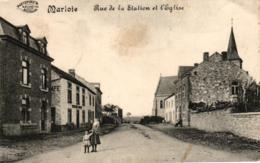 Marloie - Rue De La Station Et L' Eglise, Feldpost 1916 - Marche-en-Famenne