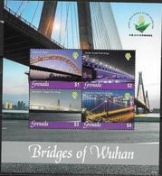 GRENADA, 2019, MNH, BRIDGES, RIVER BRIDGES, BRIDGES OF WUHAN, SHEETLET - Ponti